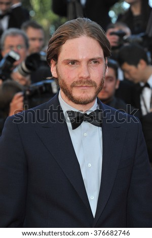 CANNES, FRANCE - MAY 24, 2014: Daniel Br���¸hl at the gala awards ceremony at the 67th Festival de Cannes. - stock photo