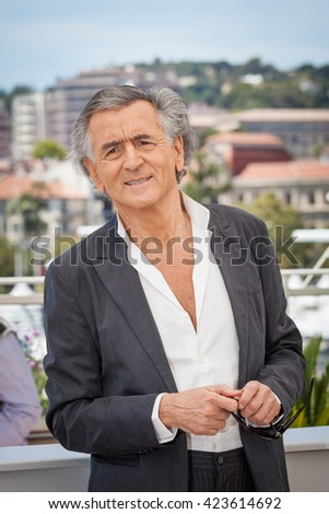 Cannes, France - 20 MAY 2016 - Director Bernard-Henri Levy attends 'Peshmerga' Photocall during The 69th Annual Cannes Film Festival - stock photo