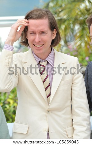 "CANNES, FRANCE - MAY 16, 2012: Director Wes Anderson at the photocall for his new movie ""Moonrise Kingdom"" at the 65th Festival de Cannes. May 16, 2012  Cannes, France"