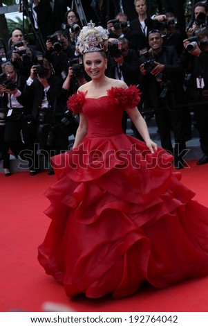 CANNES, FRANCE - MAY 14: Elena Lenina attends the opening ceremony and 'Grace of Monaco' premiere at the 67th Annual Cannes Film Festival on May 14, 2014 in Cannes, France. - stock photo