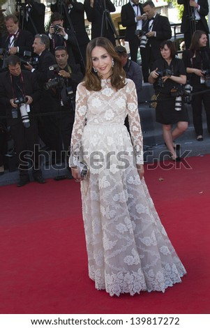 CANNES, FRANCE - MAY 23: Elsa Zylberstein attends the 'Nebraska' premiere during The 66th Cannes Film Festival at the Palais des Festival on May 23, 2013 in Cannes, France. - stock photo