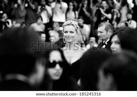 CANNES, FRANCE - MAY 16: Eva Herzigova arrives to the 'The Princess of Montpensier' Premiere during the 63rd Cannes Film Festival on May 16, 2010 in Cannes, France. - stock photo