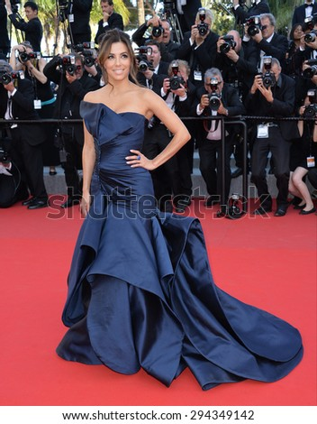 """CANNES, FRANCE - MAY 17, 2015: Eva Longoria at the gala premiere of """"Carol"""" at the 68th Festival de Cannes. - stock photo"""