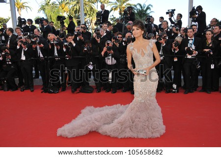 CANNES, FRANCE - MAY 16, 2012: Eva Longoria at the premiere of Moonrise Kingdom - the gala opening of the 65th Festival de Cannes. May 16, 2012  Cannes, France - stock photo
