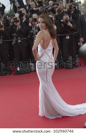 CANNES, FRANCE - MAY 17: Eva Longoria attends the 'De Rouille et D'os' Premiere during the 65th  Cannes Film Festival at Palais des Festivals on May 17, 2012 in Cannes, France. - stock photo