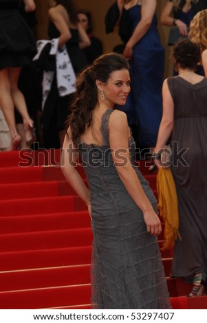 CANNES, FRANCE - MAY 16: Evangeline Lilly  attends 'The Princess Of Montpensier' Premiere at the Palais des Festivals during the 63rd  Cannes Film Festival on May 16, 2010 in Cannes, France - stock photo