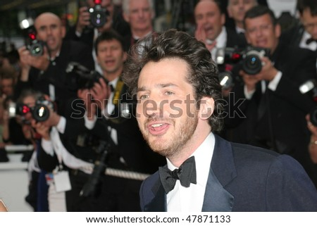 CANNES, FRANCE - MAY 11: French actor Edouard Baer attends the premiere for the film 'Lemming' at Le Palais de Festival of the 58th  Cannes Film Festival May 11, 2005 in Cannes, France