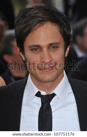 CANNES, FRANCE - MAY 23, 2010: Gael Garcia Bernal at the closing Awards Gala at the 63rd Festival de Cannes.