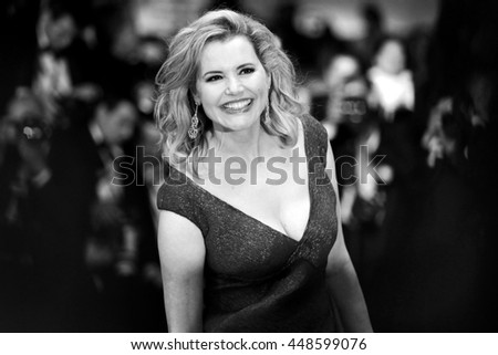 CANNES, FRANCE - MAY 15: Geena Davis attends 'The Nice Guys' premiere during the 69th Cannes Film Festival on May 15, 2016 in Cannes, France.  - stock photo
