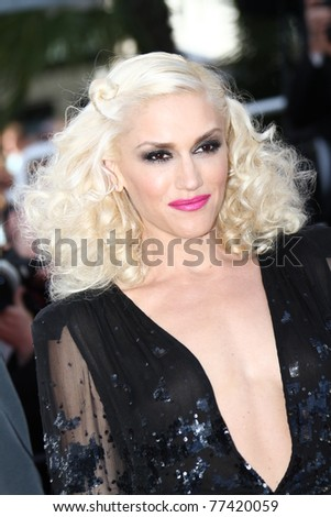 CANNES, FRANCE - MAY 16: Gwen Stefani attends 'The Tree Of Life' premiere during the 64th Annual Cannes Film Festival at Palais des Festivals on May 16, 2011 in Cannes, France. - stock photo