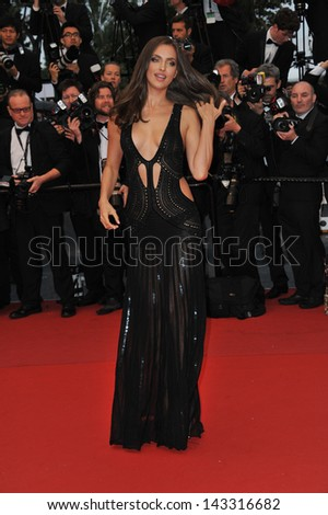 "CANNES, FRANCE - MAY 22, 2013: Irina Shayk at gala premiere for ""All Is Lost"" at the 66th Festival de Cannes."