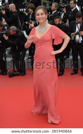 "CANNES, FRANCE - MAY 19, 2015: Isabella Orsini - Princess Isabella of Ligne - at the gala premiere for ""Sicario"" at the 68th Festival de Cannes."