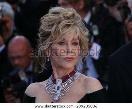 CANNES, FRANCE - MAY 20, 2015: Jane Fonda  attends the 'Youth' Premiere during the 68th annual Cannes Film Festival on May 20, 2015 in Cannes, France. - stock photo