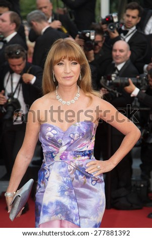 CANNES, FRANCE - MAY 13: Jane Seymour. Opening Ceremony 'La Tete Haute' Premiere. 68th Annual Cannes Film Festival at Palais des Festivals on May 12, 2015 in Cannes, France. - stock photo