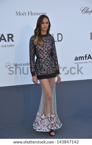 CANNES, FRANCE - MAY 23, 2013: Joan Smalls at amfAR's 20th Cinema Against AIDS Gala at the Hotel du Cap d'Antibes, France  - stock photo