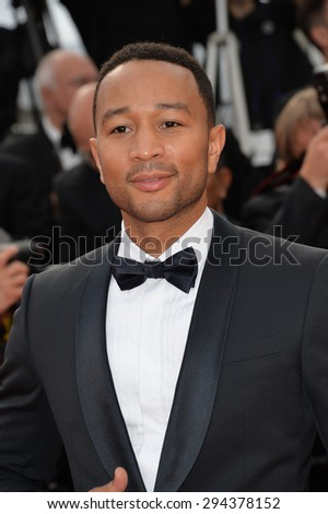 CANNES, FRANCE - MAY 13, 2015: John Legend at the gala opening ceremony of the 68th Festival de Cannes.