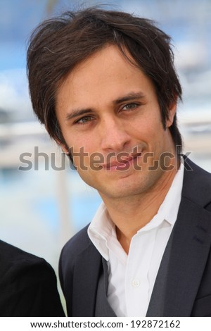 CANNES, FRANCE - MAY 14: Jury member Gael Garcia Bernal  attends the Jury photocall during the 67th Annual Cannes Film Festival on May 14, 2014 in Cannes, France.  - stock photo