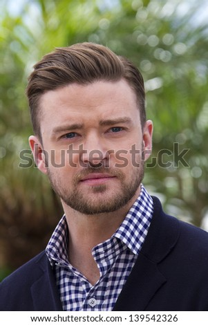 CANNES, FRANCE - MAY 19: Justin Timberlake attends the photocall for 'Inside Llewyn Davis' during the 66th Annual Cannes Film Festival at Palais des Festivals on May 19, 2013 in Cannes, France. - stock photo