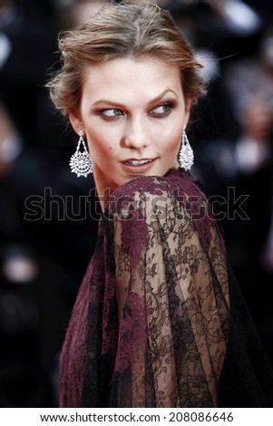 CANNES, FRANCE - MAY 14: Karlie Kloss attends the 'Grace of Monaco' premiere during the 67th Annual Cannes Film Festival on May 14, 2014 in Cannes, France.  - stock photo