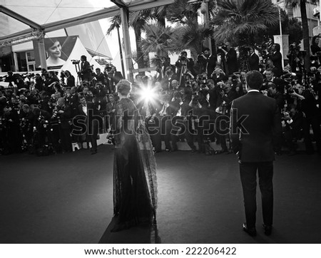 CANNES, FRANCE - MAY 14: Karlie Kloss attends the opening ceremony and 'Grace of Monaco' premiere at the 67th Annual Cannes Film Festival on May 14, 2014 in Cannes, France. - stock photo