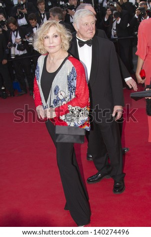 CANNES, FRANCE - MAY 26: Kim Novak  attends the Premiere of 'Zulu' and the Closing Ceremony of The 66th  Cannes Film Festival at Palais on May 26, 2013 in Cannes, France. - stock photo