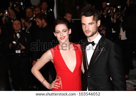CANNES, FRANCE - MAY 25: Kristen Stewart and Tom Sturridge attend the 'Cosmopolis' Premiere during the 65th Cannes Film Festival at Palais des Festivals on May 25, 2012 in Cannes, France - stock photo