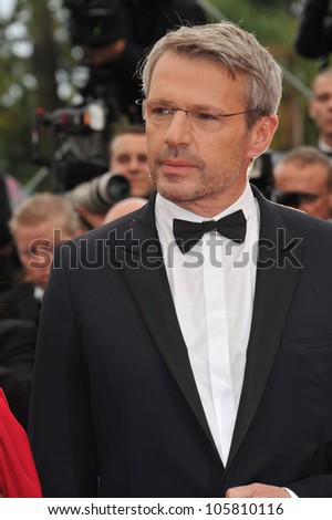 "CANNES, FRANCE - MAY 21, 2012: Lambert Wilson at the premiere of ""You Ain't Seen Nothing Yet"" in  Cannes. May 21, 2012  Cannes, France"