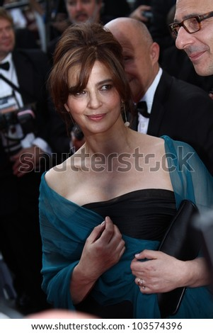 CANNES, FRANCE - MAY 26:  Laura Morante attends the 'Mud' Premiere during the 65th Annual Cannes Film Festival at Palais des Festivals on May 26, 2012 in Cannes, France. - stock photo