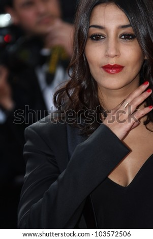 CANNES, FRANCE - MAY 26: Le�¯la Bekhti attends the 'Mud' Premiere during the 65th Annual Cannes Film Festival at Palais des Festivals on May 26, 2012 in Cannes, France. - stock photo