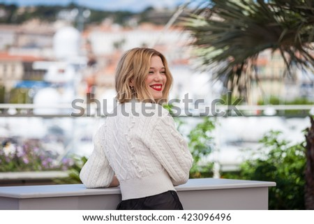 Cannes, France - 19 MAY 2016 - Lea Seydoux attends the 'It's Only The End Of The World (Juste La Fin Du Monde)' Photocall during the 69th annual Cannes Film Festival - stock photo