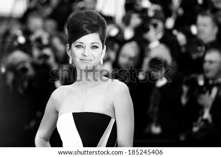 CANNES, FRANCE - MAY 20: Marion Cotillard attends the 'Blood Ties' Premiere during the 66th Cannes Film Festival on May 20, 2013 in Cannes, France. - stock photo
