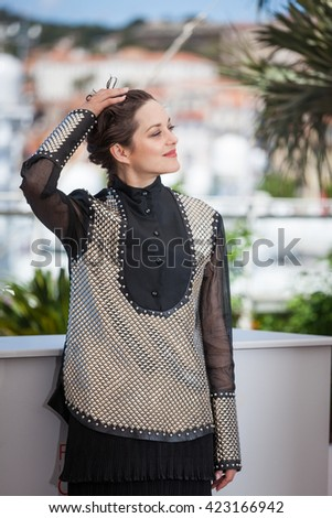 Cannes, France - 19 MAY 2016 - Marion Cotillard attends the 'It's Only The End Of The World (Juste La Fin Du Monde)' Photocall during the 69th annual Cannes Film Festival - stock photo