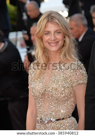 "CANNES, FRANCE - MAY 18, 2015: Melanie Laurent at the gala premiere of Disney/Pixar's ""Inside Out"" at the 68th Festival de Cannes."