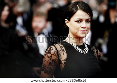 CANNES, FRANCE- MAY 15: Michelle Rodriguez attends the 'Irrational Man' premiere during the 68th Cannes Film Festival on May 15, 2015 in Cannes, France.  - stock photo