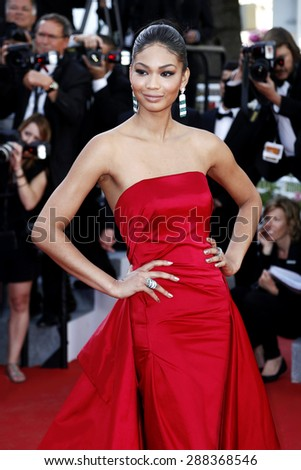 CANNES, FRANCE- MAY 20: Model Chanel Iman attends the 'Youth' Premiere during the 68th Cannes Film Festival on May 20, 2015 in Cannes, France. - stock photo