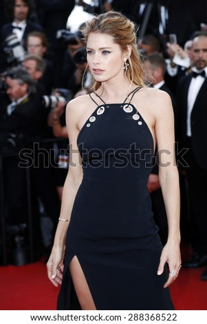 CANNES, FRANCE- MAY 20: Model Doutzen Kroes attends the 'Youth' Premiere during the 68th Cannes Film Festival on May 20, 2015 in Cannes, France. - stock photo
