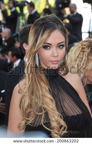 "CANNES, FRANCE - MAY 18, 2014: Nabilla Benattia at the gala premiere of ""The Homesman"" at the 67th Festival de Cannes.  - stock photo"