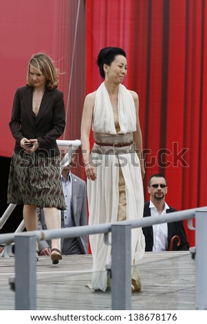 CANNES, FRANCE - MAY 15: Naomi Kawase at the Jury photocall during the 66th Annual Cannes Film Festival at Palais des Festivals on May 15, 2013 in Cannes, France - stock photo
