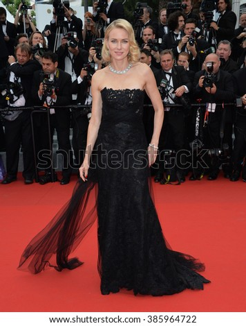 "CANNES, FRANCE - MAY 14, 2015: Naomi Watts at the gala premiere of ""Mad Max: Fury Road"" at the 68th Festival de Cannes. - stock photo"