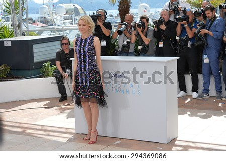 "CANNES, FRANCE - MAY 16, 2015: Naomi Watts at the photocall for her movie ""The Sea of Trees"" at the 68th Festival de Cannes."