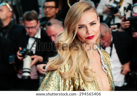 Cannes, France - May 16, 2015: Natasha Poly attends the Premiere of 'The Sea Of Trees' during the 68th annual Cannes Film Festival on May 16, 2015 in Cannes, France.  - stock photo