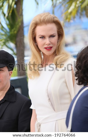 CANNES, FRANCE - MAY 14: Nicole Kidman attends the 'Grace of Monaco' photocall at the 67th Annual Cannes Film Festival on May 14, 2014 in Cannes, France. - stock photo