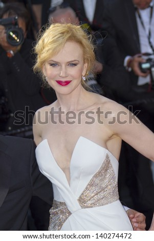 CANNES, FRANCE - MAY 26: Nicole Kidman attends the Premiere of 'Zulu' and the Closing Ceremony of The 66th  Cannes Film Festival at Palais on May 26, 2013 in Cannes, France. - stock photo