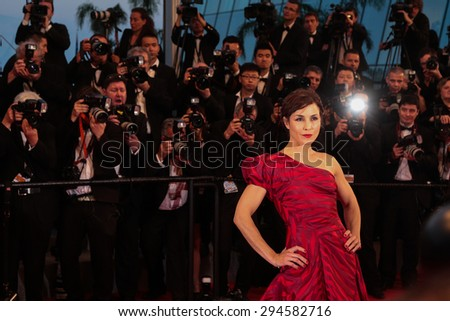Cannes, France - May 16, 2015: Noomi Rapace attends 'The Sea Of Trees' Premiere during the 68th annual Cannes Film Festival on May 16, 2015 in Cannes, France.  - stock photo