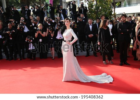 CANNES, FRANCE - MAY 24:  Paz Vega attend the Closing Ceremony and 'A Fistful of Dollars' Screening during the 67th Annual Cannes Film Festival on May 24, 2014 in Cannes, France. - stock photo