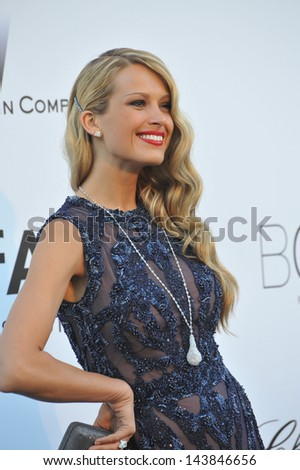 CANNES, FRANCE - MAY 23, 2013: Petra Nemcova at amfAR's 20th Cinema Against AIDS Gala at the Hotel du Cap d'Antibes, France  - stock photo