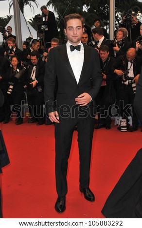 "CANNES, FRANCE - MAY 25, 2012: Robert Pattinson at the gala screening of his new movie ""Cosmopolis"" in Cannes. May 25, 2012  Cannes, France - stock photo"