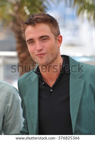 "CANNES, FRANCE - MAY 18, 2014: Robert Pattinson at the photocall for his movie ""The Rover"" at the 67th Festival de Cannes."