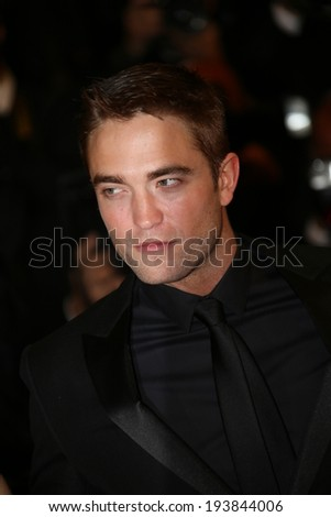 CANNES, FRANCE - MAY 19: Robert Pattinson attends the 'Maps To The Stars' premiere during the 67th  Cannes Festival on May 19, 2014 in Cannes, France. - stock photo