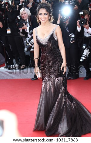 CANNES, FRANCE - MAY 18: Salma Hayek attends the 'Once Upon A Time' Premiere during 65th Annual Cannes Film Festival during at Palais des Festivals on May 18, 2012 in Cannes, France.